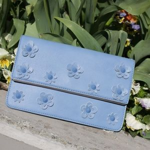Blue Floral Clutch by Urban Expressions